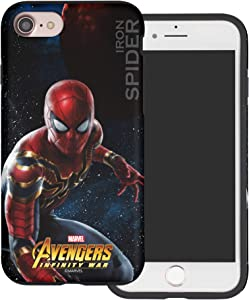 WiLLBee Compatible with iPhone 5S / iPhone 5 / iPhone SE (2016) Case Layered Hybrid [TPU + PC] Bumper Cover - War Spider