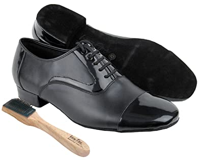New Black Men/'s Patent Leather Soft Soled Latin Rumba Tango Ballroom Dance Shoes