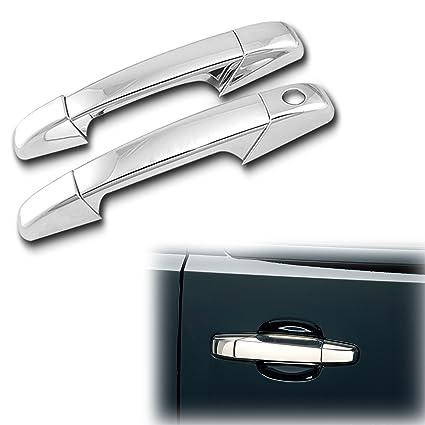For Gmc Sierra 07-13 Chrome 2 Doors Handles Covers W// Passenger Keyhole