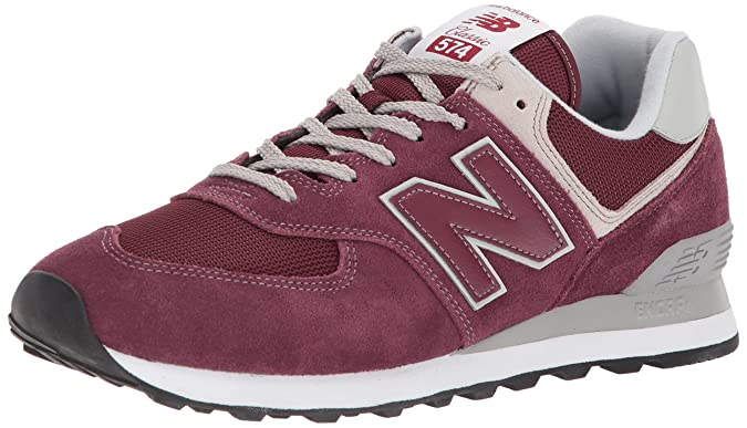 New Balance Men's 574v2 Evergreen Lifestyle Sneaker, Burgundy, 4 D US