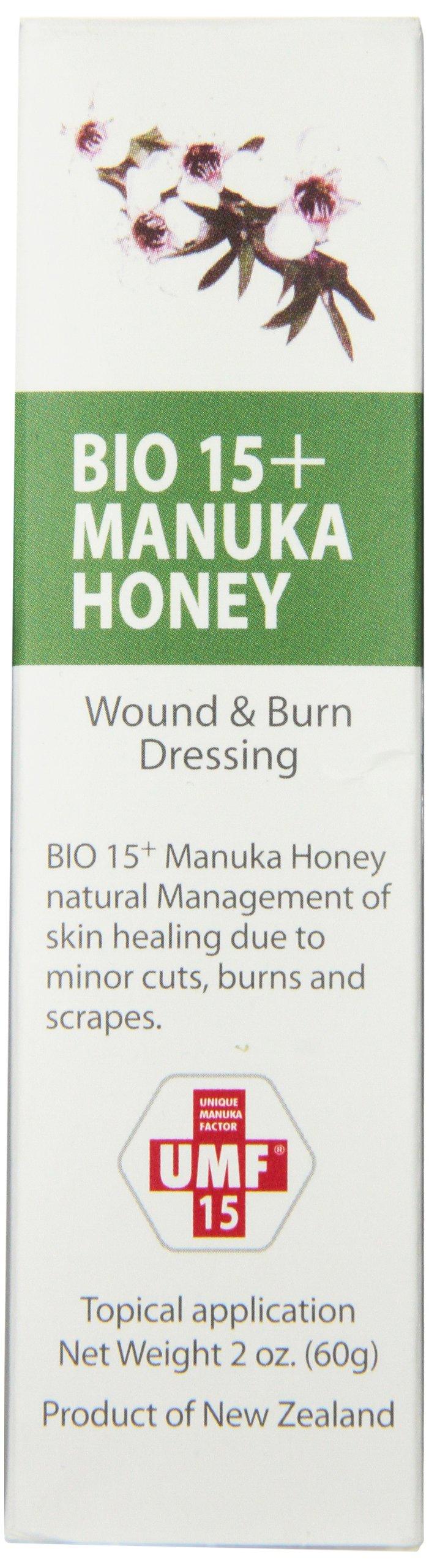 UMF 15+  Manuka Honey Wound and Burn Dressing, 2 Ounce Tube