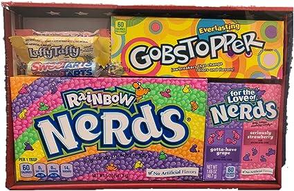 AMERICandi Box | 5 dulces americanos diferentes | Nerds | USA Gobstopper, Sweetarts, LaffyTaffy Candy Regalo: Amazon.es: Alimentación y bebidas