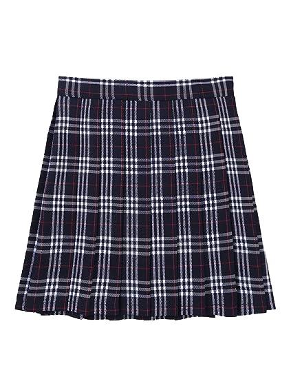 IEFIEL Falda Plisada Mujer Mini Falda Escolar Falda Corta ...