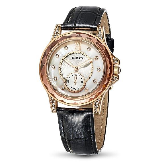 Time100 W80127L.05A 2017 Reloj Negro Moderno Básico de Pulsera para Mujer: Amazon.es: Relojes