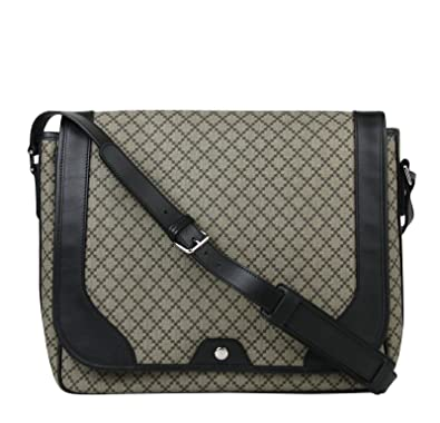 0cef1774f59677 Amazon.com: Gucci Men's Supreme Beige/Ebony Diamante Canvas Messenger Bag  295251 9769: Shoes