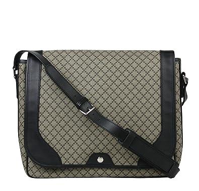 3fb8e88e1b4825 Amazon.com: Gucci Men's Supreme Beige/Ebony Diamante Canvas Messenger Bag  295251 9769: Shoes
