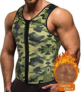 17424f235f5e4e Amazon.com   DaliRo Men s Sweat Vest Body Shaper - Neoprene Tank Top ...
