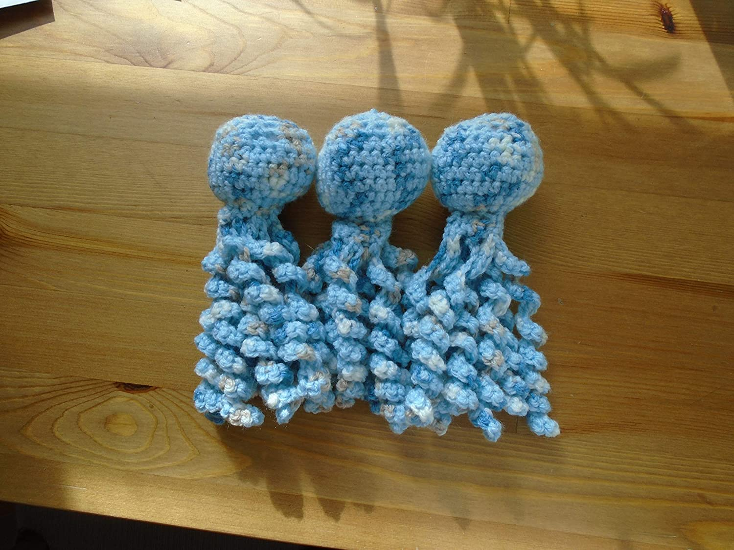 Hand-crocheted octopus for baby, newborn or premature all proceeds to charity Porridge and Rice