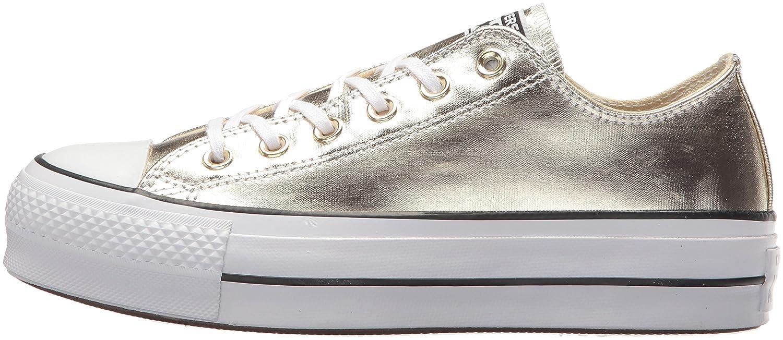 Converse Women's Lift Canvas Low Top Sneaker B073C7GZR8 9.5 B(M) US|Gold Black White