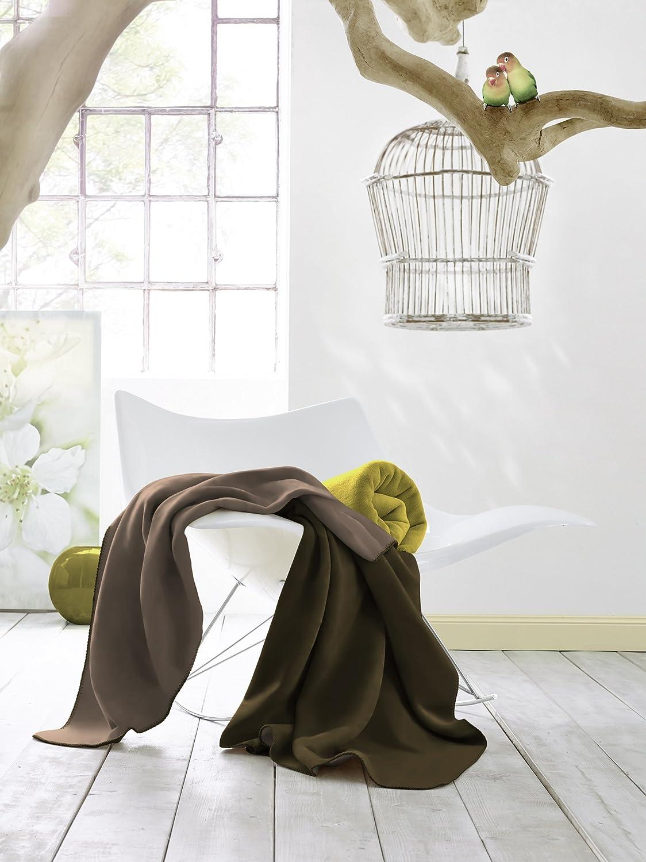 bocasa by biederlack Couverture en Coton m/élang/é Gris 150 x 200 cm