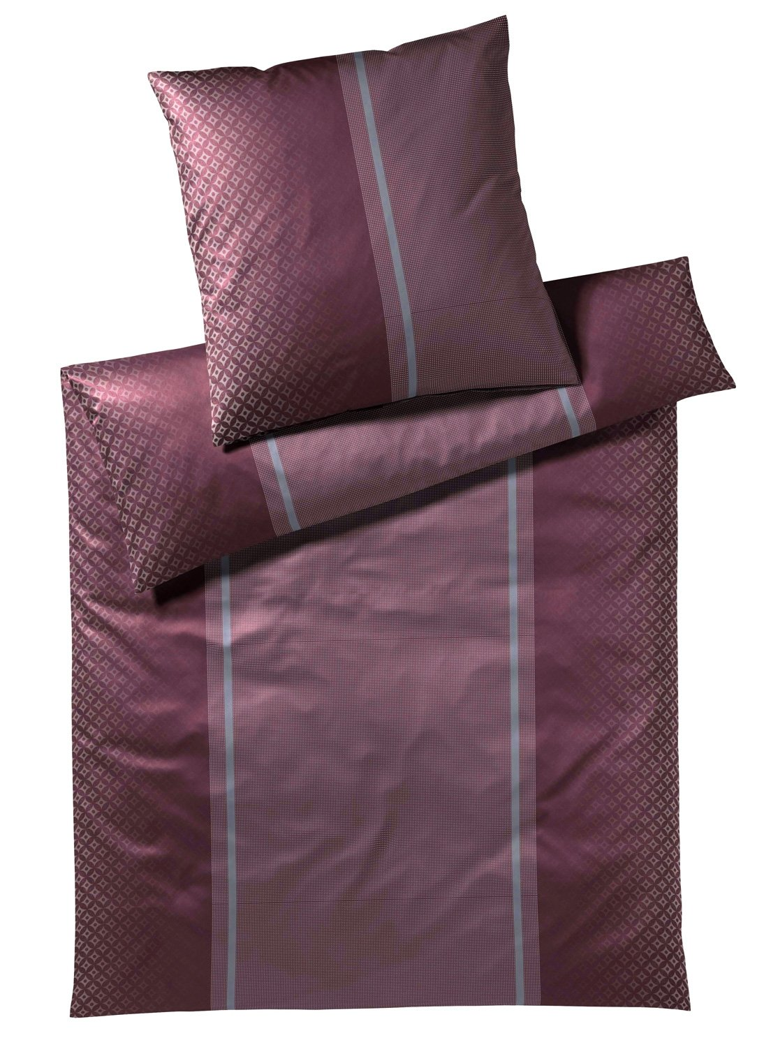 Elegante Joop  Bettwäsche Decor 4071   1 Burgundy - 155 x 220 cm