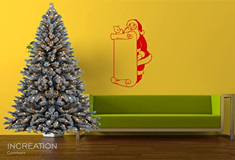 Amazon.com: Merry Christmas Santa Clause Wish List Door Wall Decal X ...