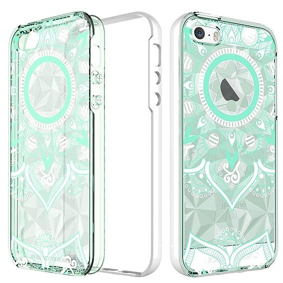 b707e7f8231 BENTOBEN Phone Case for Apple iPhone SE iPhone 5S iPhone 5, Slim Clear  Pretty Mandala