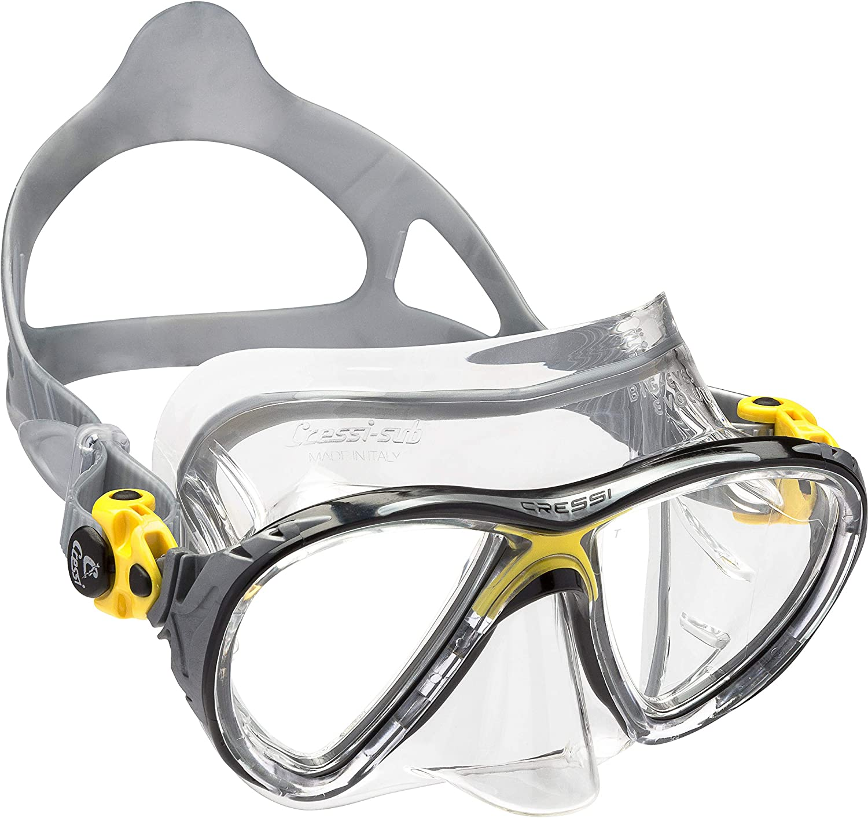 Cressi – B0039ODAB0 Scuba Cressi大きな目Evolution イエローby andシュノーケリングマスク Diving