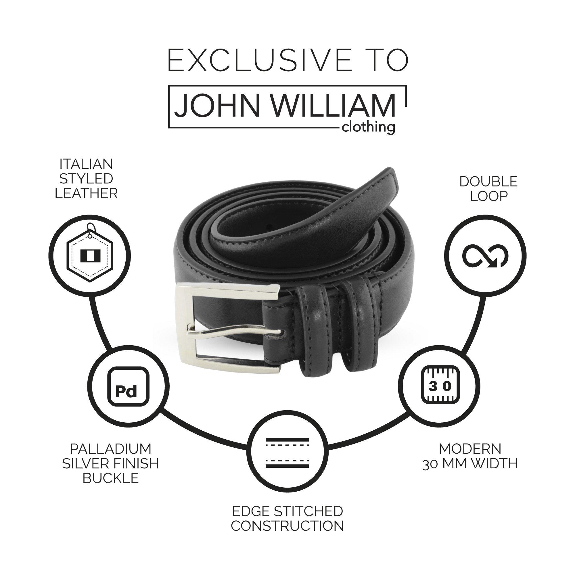 Leather Belts For Men - Mens Black Belt - 1.25'' Dress & Casual Men's Belt in Gift Bag - 36 by John William Clothing (Image #3)