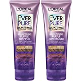 L'Oreal Paris EverPure Brass Toning Purple Shampoo and Conditioner Kit, 8.5 Ounce, Set of 2