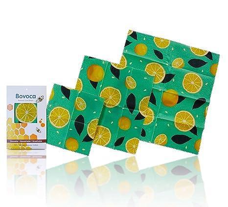 Amazon.com: Bovoca – Juego de 3 hojas de cera reutilizables ...