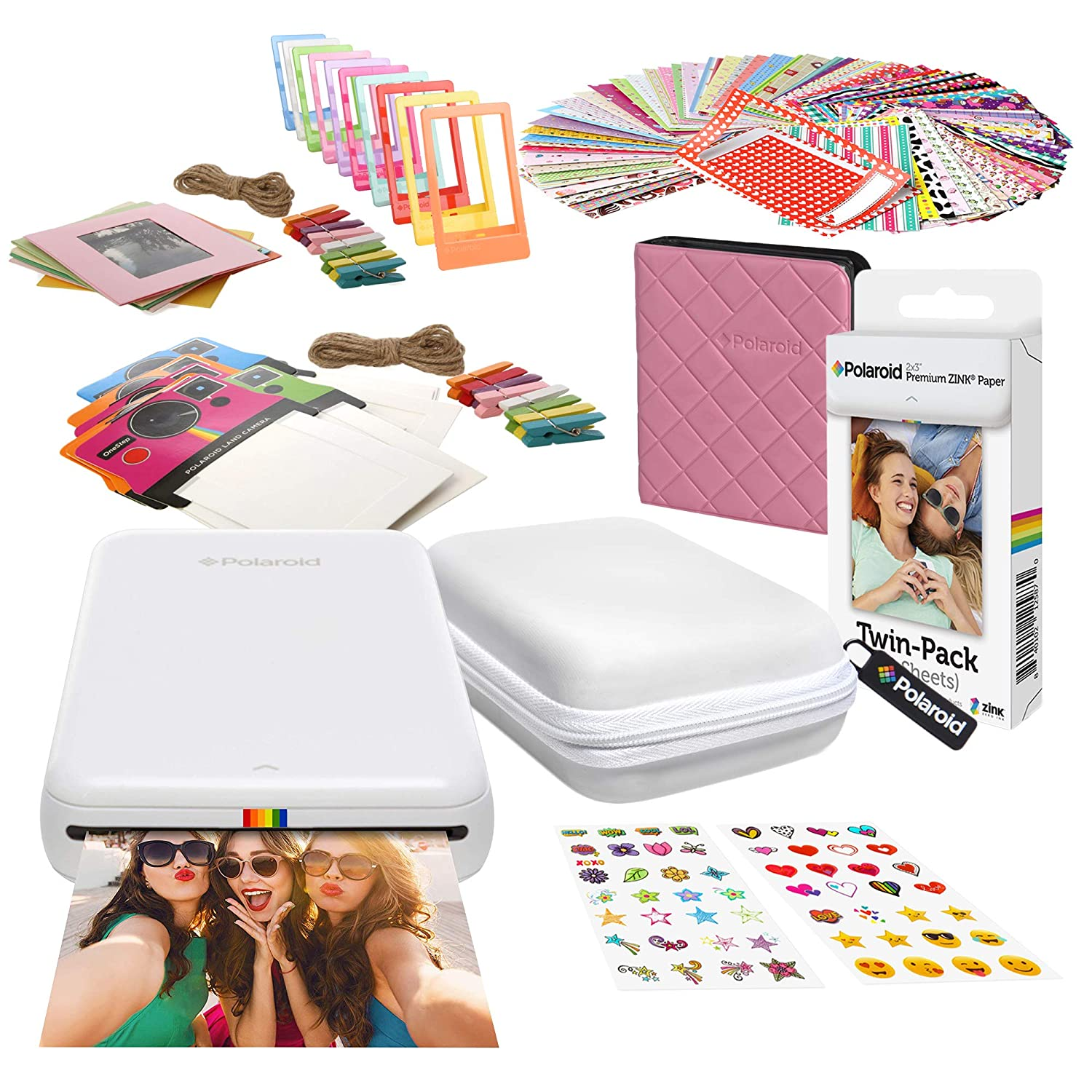 Polaroid Zip Impresora de Fotos Inalámbrica (Blanco) Kit de ...