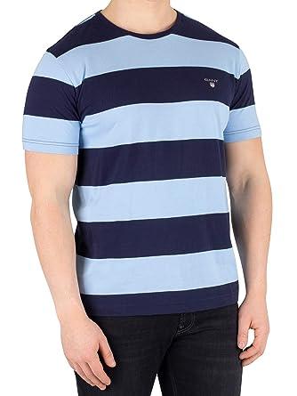 02d563a34821 Gant Men's The Original Barstripe T-Shirt, Blue: Amazon.co.uk: Clothing