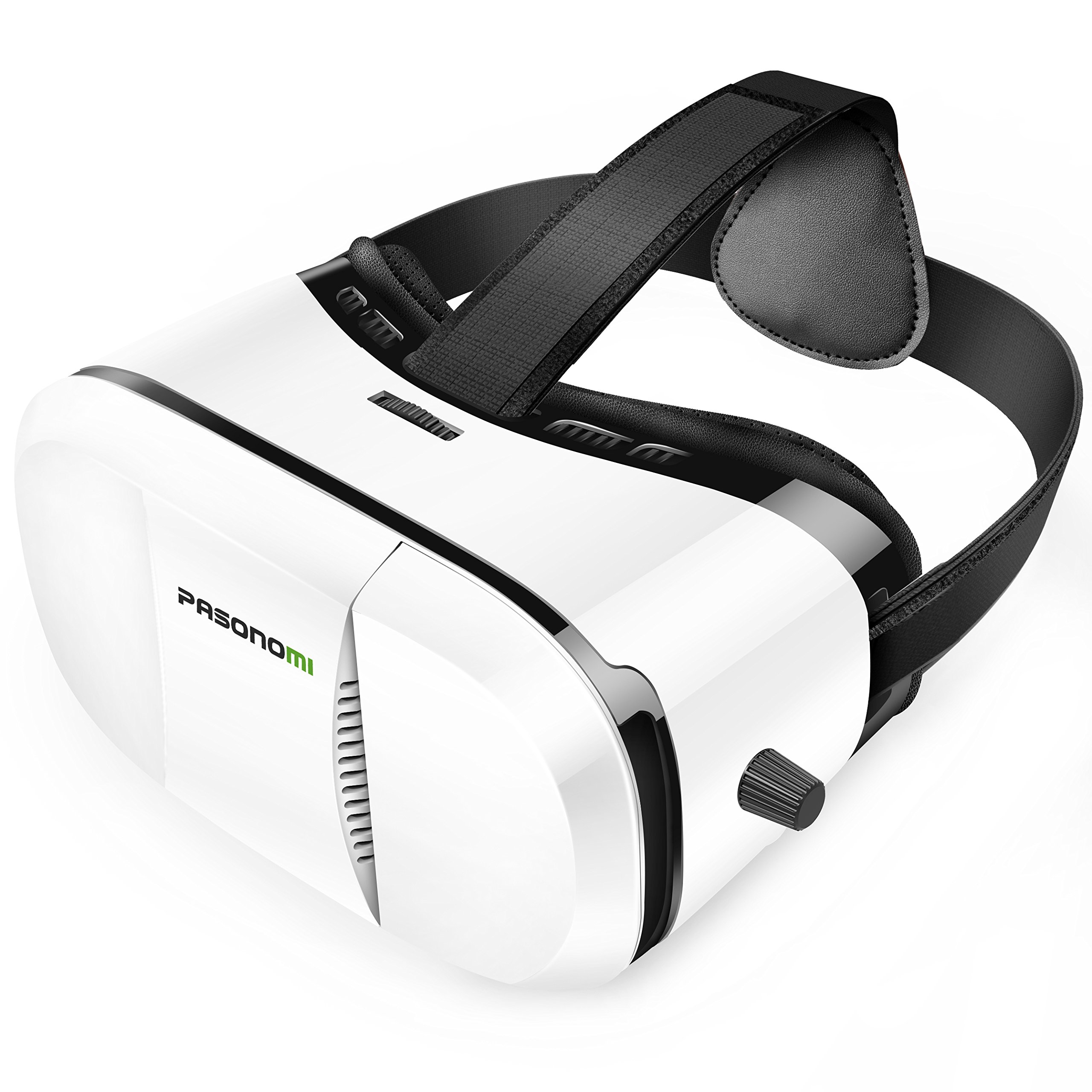 Pasonomi VR Glasses - 3D Virtual Reality Headset for iPhone 7/7 Plus/6s/6 plus/6/5, Samsung Galaxy, Huawei, Google, Moto & all Android Smartphone
