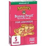 Annie's Homegrown Organic Pink Lemonade Bunny Fruit Snacks , 5-Count, 115 Grams