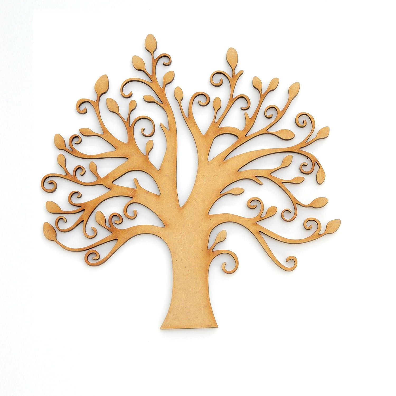 Albero genealogico in MDF Artigianato /& nozze ideale come albero genealogico 150 mm Albero con germogli include 10/forme di cuori e una scritta Famiglia MDF MDF Wooden