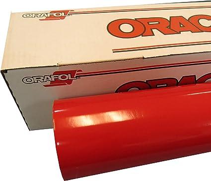 "Oracal 651 1 Roll 24/"" x 10yd 30ft Dark Red 030 Gloss Sign Vinyl"