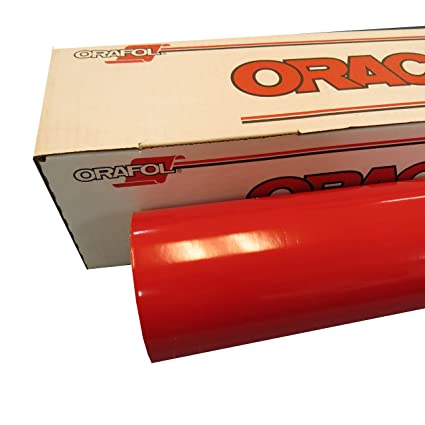 ORACAL 24 x 30 Ft Roll of Glossy 651 Red Vinyl for Craft Cutters and Vinyl Sign Cutters