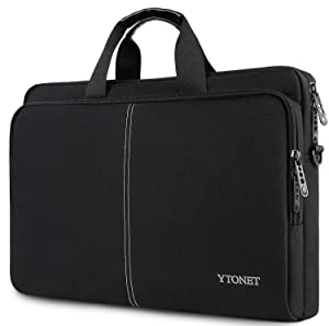 17.3 Inch Laptop Case, Slim Latop Bag for Men Women, Casual Shoulder Carrying Bags Fit 17.3 17 15.6 Inches Laptops Notebook Computer for College School Office Business Travel Trip, Black