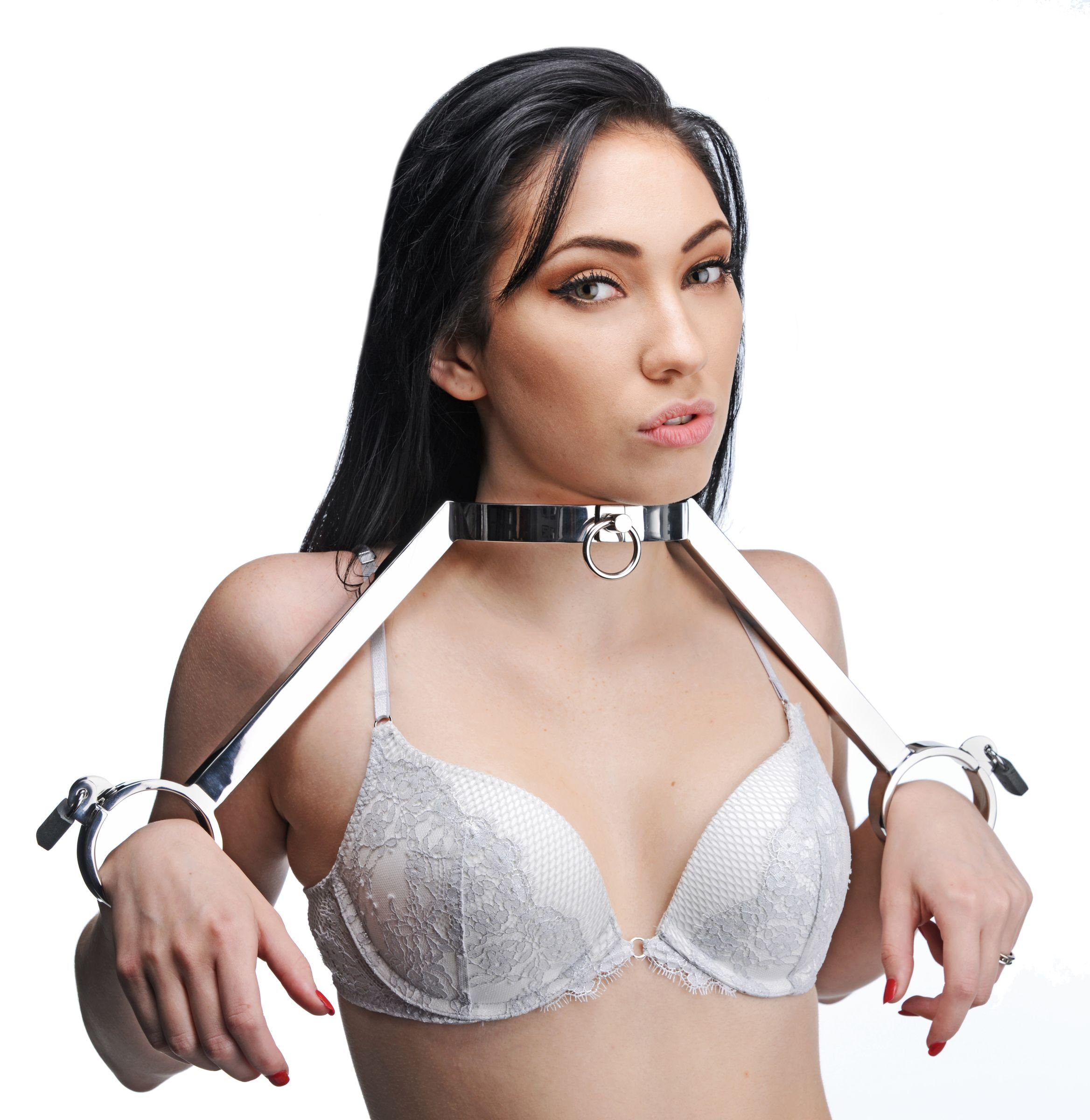 Master Series At Your Mercy Stainless Steel Neck to Wrist Restraints by Master Series