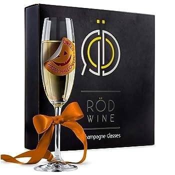 ROD WINE 7.5 oz Titanium Crystal Sparkling Wine Champagne Glass