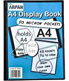 Display book - 48 Pockets Black Presentation A4 Display Book Folder Folio for Professionals, Business, Students, Projects, School, College & Personal use by Arpan