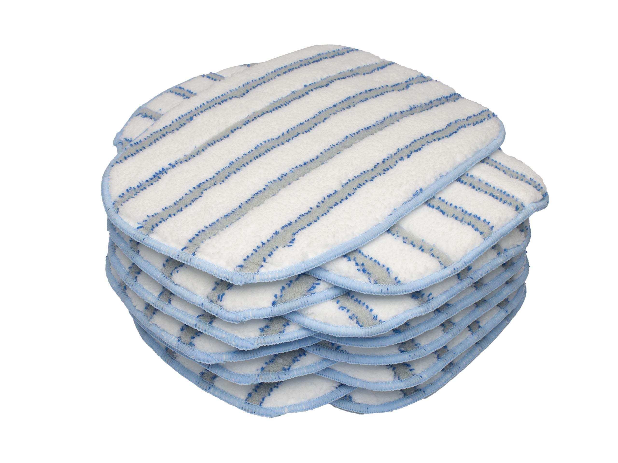 LTWHOME Microfiber Scrubbing Mop Pads Fit for McCulloch MC1375, MC1385 Steam Cleaner, Compatiable with McCulloch A1375-101(Pack of 12) by LTWHOME