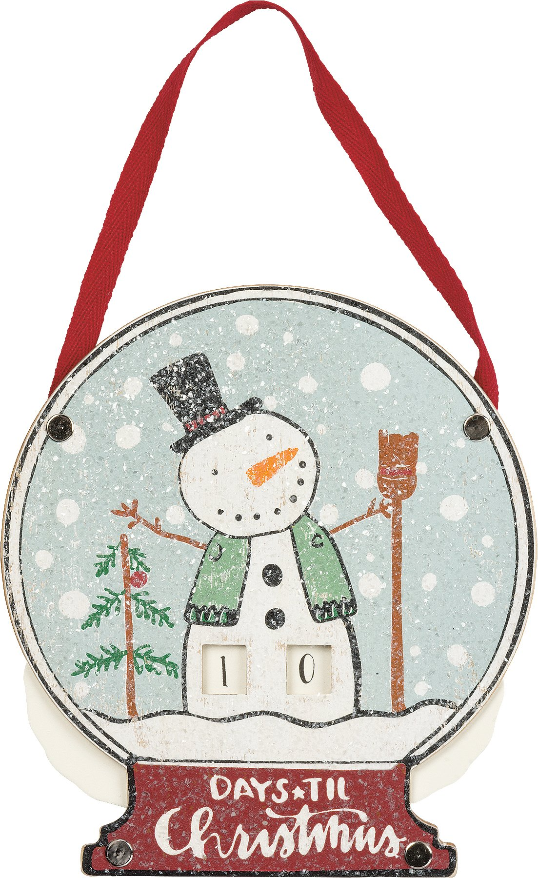 Primitives by Kathy Hand Lettered Christmas Countdown, Snowman/Days Till