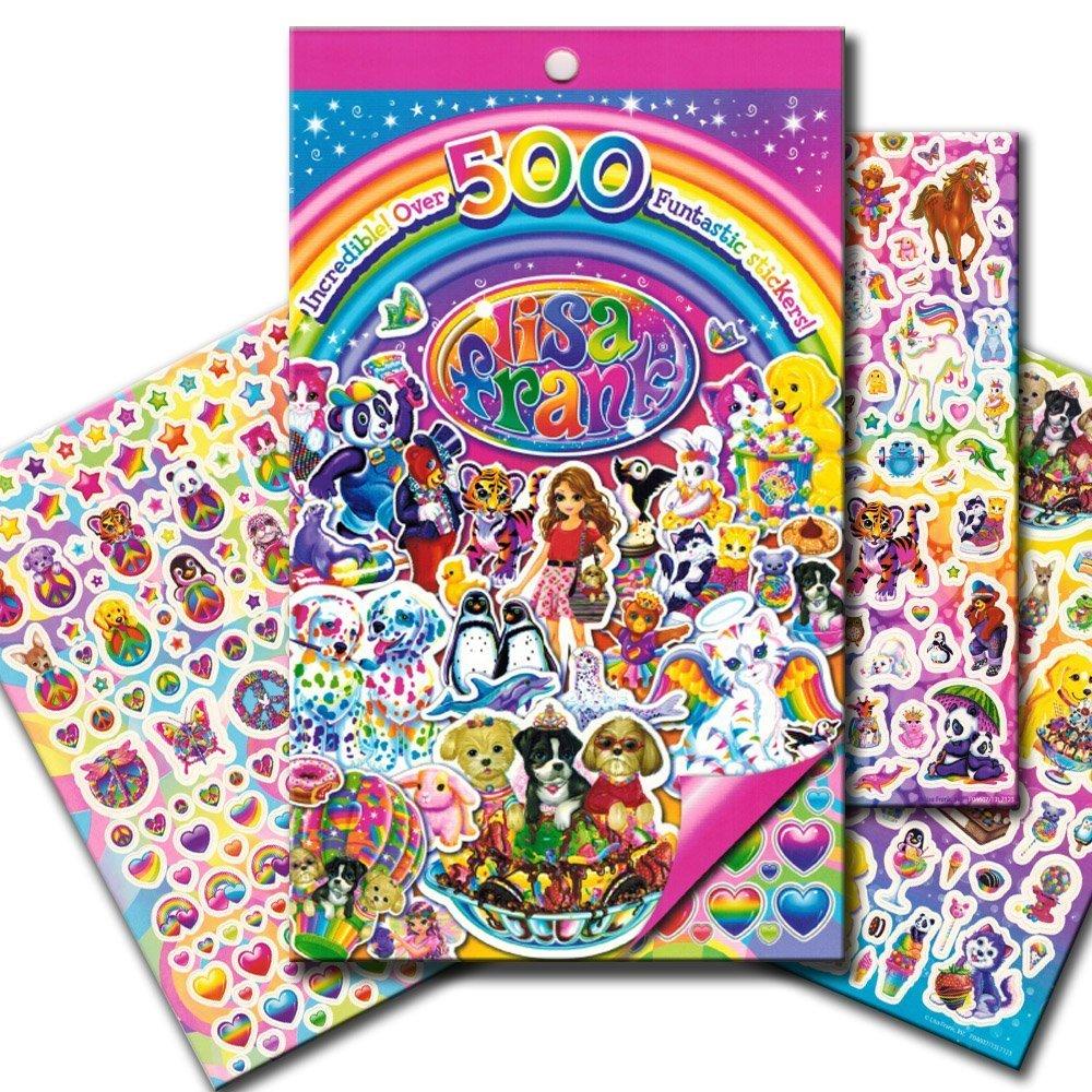 【特価】 Lisa Frank Stickers Stickers Over ~ Frank Over 500 Stickers by Lisa Frank B00TSTI8M6, 携帯スリッパ屋さん。:777dacaa --- mvd.ee
