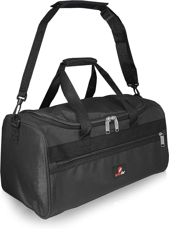 Bolsa de Viaje Pequeña - 2º Artículo de Equipaje de Mano en Ryanair - Bolsas de Viaje Fabricada con el Tamaño Exacto de 40 x 25 x 20 cm - Bolso de Cabina - Super Ligero 0,4 kg RL59K (Negro)