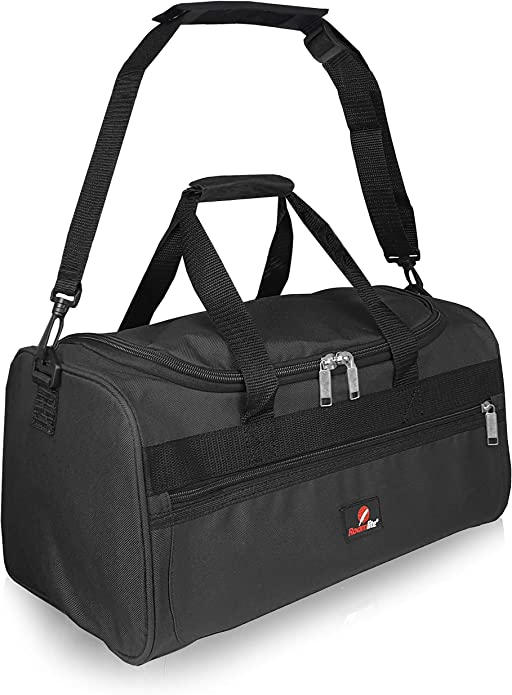 Roamlite Small Cabin Approved Travel Holdalls Carry On Duffel Bags Personal Item Of Hand Luggage Size 40 Cm X25x20 Waterproof Polyester 20 Litre Rl59k Black Shoes