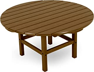 "product image for POLYWOOD RCT38TE Round 38"" Conversation Table, Teak"