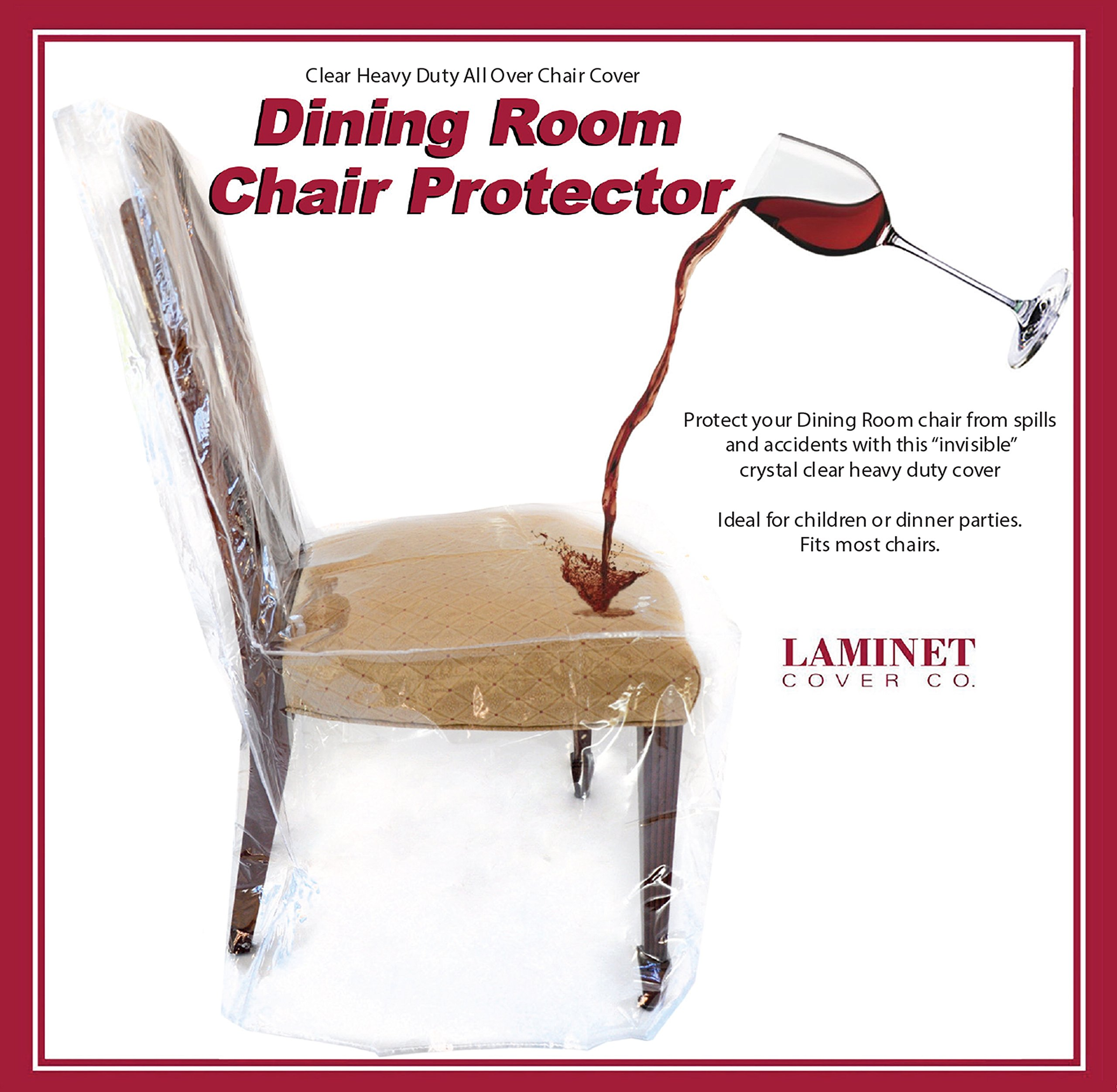 LAMINET - Clear Furniture Protectors - Slipcovers & Elastic Covers (Dining Chair - Set of 4)