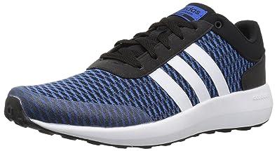best sneakers 22be4 7afeb adidas Mens CF Race Running Shoe, BlackWhiteBlue, 9.5 Medium US