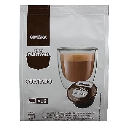 Puro sabor Gimoka Cortado, leche en polvo con café soluble, máquinas de café ,