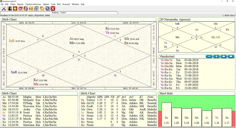 Parasharas Light 90 Astrology Software Professional Edition