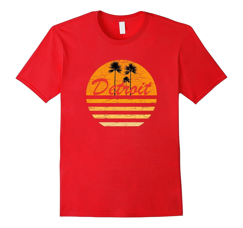 Detroit Vintage Funny T-Shirt 70s Throwback Surf Tee-T-Shirt