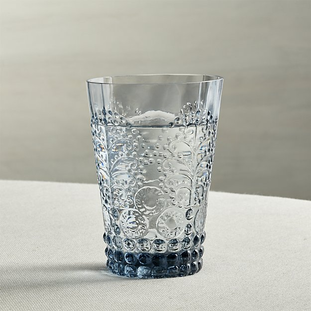Alegre Azul Beverage Glass | Crate and Barrel