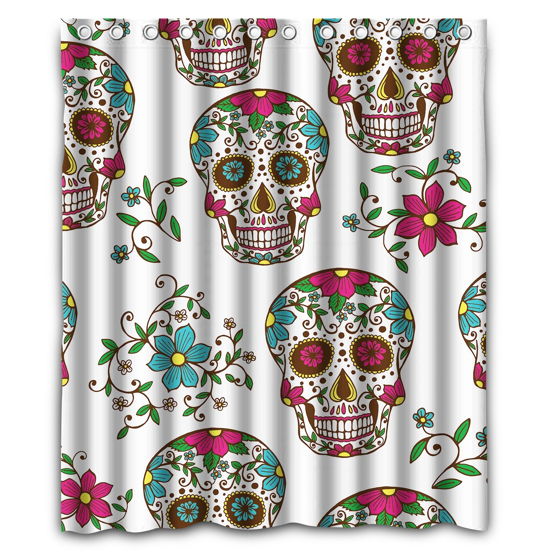Skull Bedroom Curtains Window Curtains My Sugar Skulls