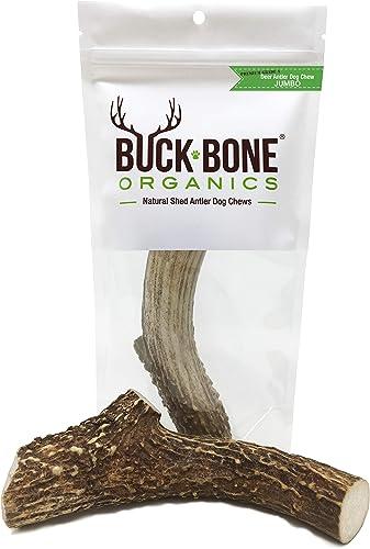 Buck Bone Organics Deer Antler Dog Bones, Premium Grade A – Natural Dog Treat, Made in Montana