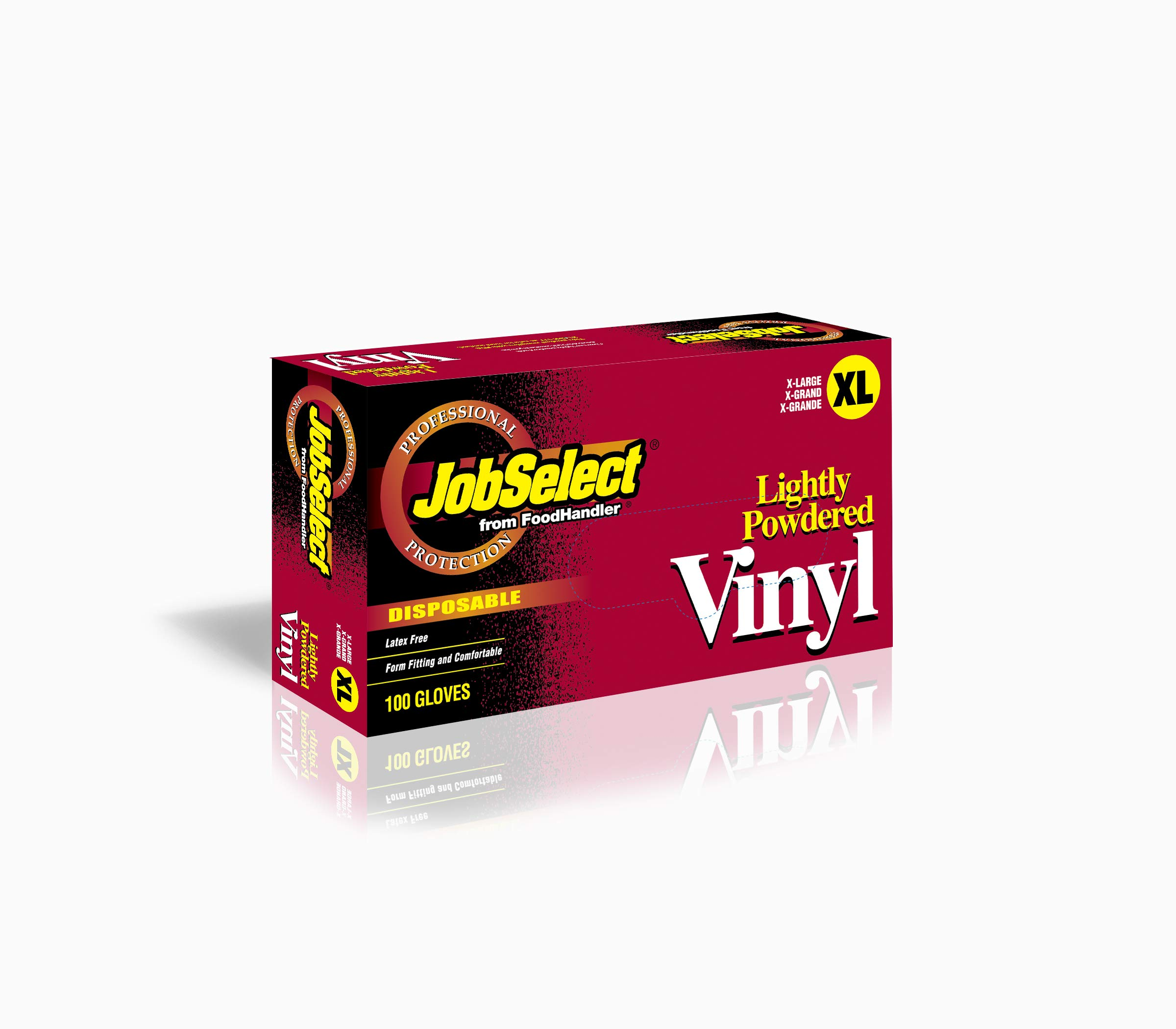 JobSelect 102-208 JobSelect, Vinyl, X-Large, Clear (Pack of 1000)