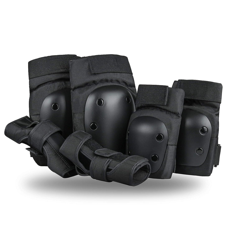 Szblaze 膝パッド 肘パッド 手首ガード 3イン1 スケートボード用安全保護ギアセット インラインローラースケート BMX自転車スクーター Medium  B07MMRRWV3