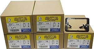Arlington LV1 Low Voltage Mounting Bracket, 1-Gang, Black, 50-Pack