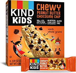 product image for KIND Kids Granola Chewy Bar, Peanut Butter Chocolate Chip, 6 Count (Pack of 8)